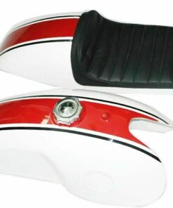 White Cherry Petrol Fuel Gas Tank With Seat Benelli Mojave Cafe Racer 260 360