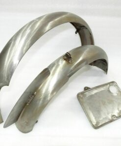 NEW EXCELSIOR 1930'S FRONT & REAR MUDGUARD SET WITH FRONT & REAR NUMBER PLATE